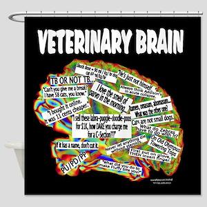 vet brain Shower Curtain
