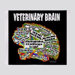 vet brain Throw Blanket