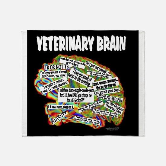 vet brain Throw Blanket