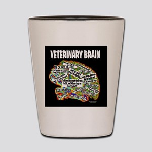 vet brain Shot Glass