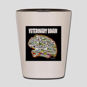 vet brain Shot Glass