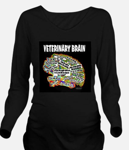 vet brain Long Sleeve Maternity T-Shirt