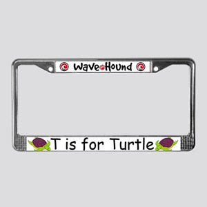T is for Turtle License Plate Frame
