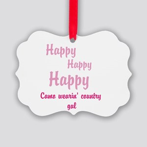 Camo Wearing Country Gal Ornament
