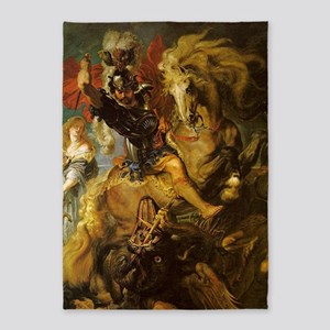 Saint George and the Dragon 5'x7'Area Rug
