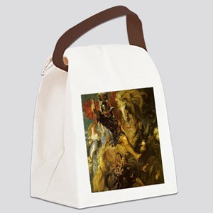 Saint George and the Dragon Canvas Lunch Bag