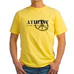 Atheism Doesn't Start Wars Yellow T-Shirt