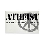 Atheism Doesn't Start Wars Rectangle Magnet (10 pa