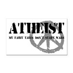 Atheism Doesn't Start Wars Rectangle Car Magnet