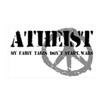 Atheism Doesn't Start Wars 35x21 Wall Decal