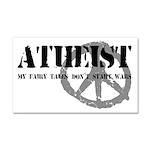 Atheism Doesn't Start Wars Car Magnet 20 x 12