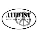 Atheism Doesn't Start Wars Sticker (Oval 10 pk)