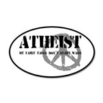 Atheism Doesn't Start Wars 35x21 Oval Wall Decal