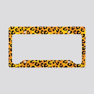 Leopard Print Spot Pattern Orange Yellow License P