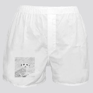 pencil sketch meerkat Boxer Shorts