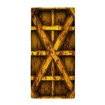 Rusty Shipping Container - yellow Beach Towel