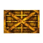 Rusty Shipping Container - yellow Mini Poster Prin