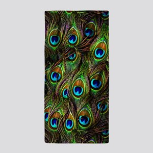 Peacock Feathers Invasion Beach Towel