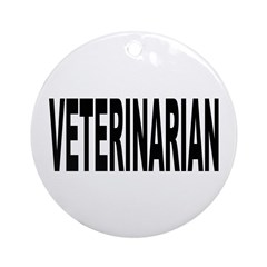 Veterinarian Ornament (Round)
