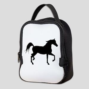 Arabian Horse Silhouette Neoprene Lunch Bag