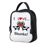 I Love Skunks Neoprene Lunch Bag