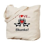 I Love Skunks Tote Bag