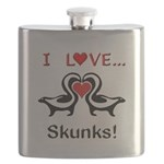 I Love Skunks Flask