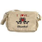 I Love Skunks Messenger Bag
