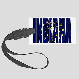 Indiana Flag Large Luggage Tag