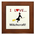 I Love Witchcraft Framed Tile