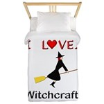 I Love Witchcraft Twin Duvet