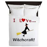 I Love Witchcraft Queen Duvet