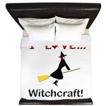 I Love Witchcraft King Duvet