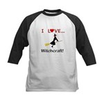 I Love Witchcraft Kids Baseball Jersey