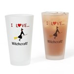 I Love Witchcraft Drinking Glass