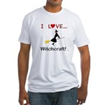 I Love Witchcraft Fitted T-Shirt