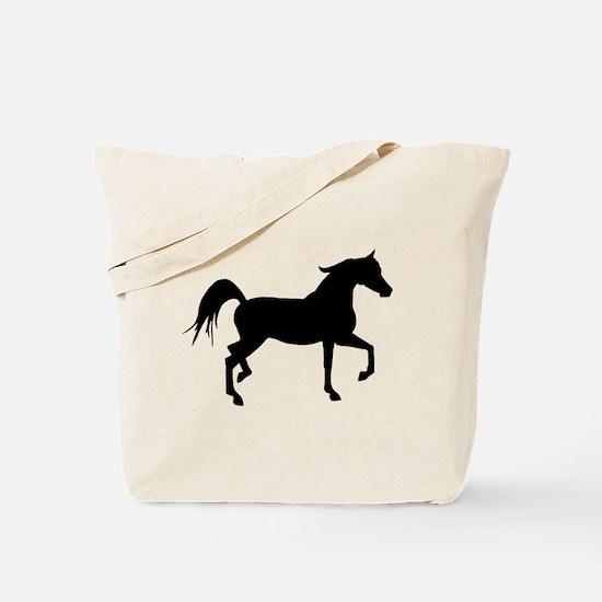 Arabian Horse Silhouette Tote Bag