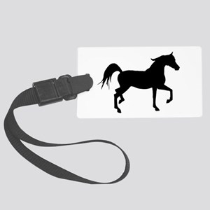 Arabian Horse Silhouette Large Luggage Tag