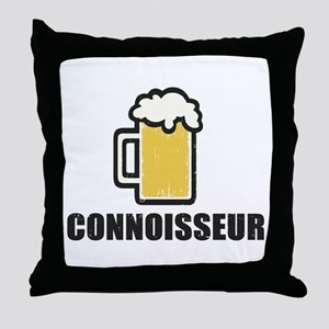 Beer Connoisseur Throw Pillow