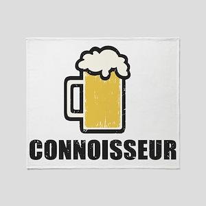 Beer Connoisseur Throw Blanket