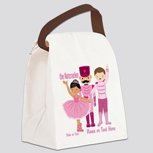 Personalize Pink Nutcracker Canvas Lunch Bag