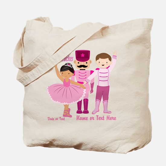 Personalize Pink Nutcracker Tote Bag