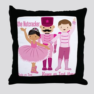 Personalize Pink Nutcracker Throw Pillow