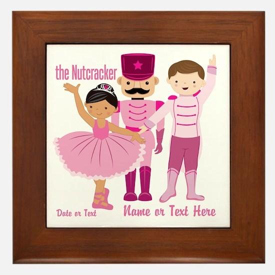 Personalize Pink Nutcracker Framed Tile