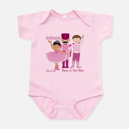 Personalize Pink Nutcracker Infant Bodysuit