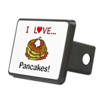 I Love Pancakes Rectangular Hitch Cover