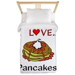 I Love Pancakes Twin Duvet