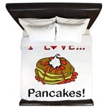 I Love Pancakes King Duvet