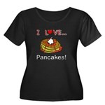 I Love Pancakes Women's Plus Size Scoop Neck Dark