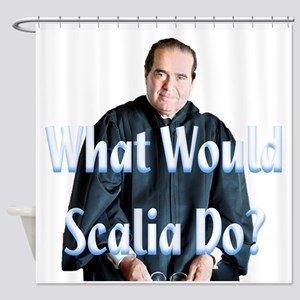 What Would Scalia Do Shower Curtain
